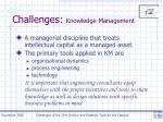 challenges knowledge management