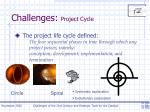 challenges project cycle