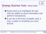 strategic business tools smart cards