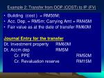 example 2 transfer from oop cost to ip fv