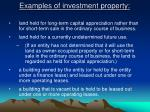 examples of investment property