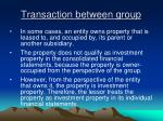 transaction between group