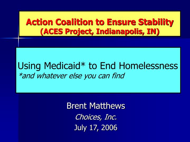 action coalition to ensure stability aces project indianapolis in n.