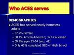 who aces serves