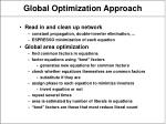 global optimization approach