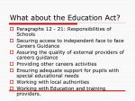what about the education act1