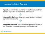 leadership clinic example