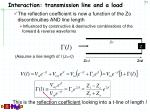 interaction transmission line and a load