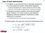 line load interactions
