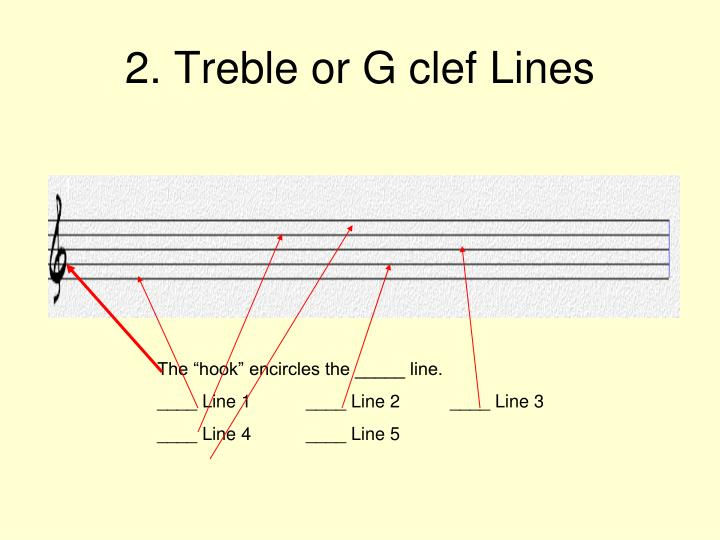 2. Treble or G clef Lines