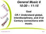 general music 6 10 30 11 15