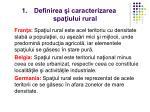 definirea i caracterizarea spa iului rural1