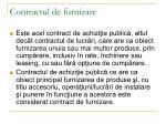 contractul de furnizare