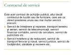 contractul de servicii