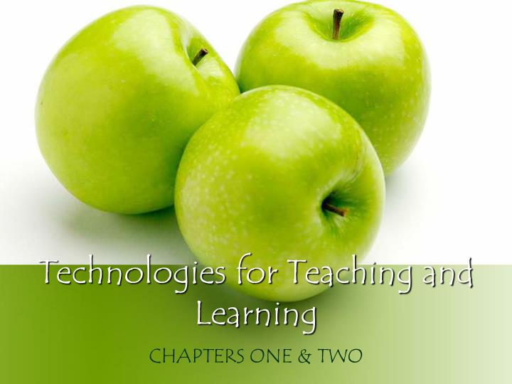 technologies for teaching and learning n.