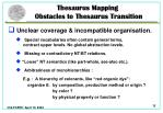 thesaurus mapping obstacles to thesaurus transition