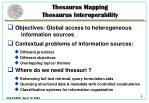 thesaurus mapping thesaurus interoperability
