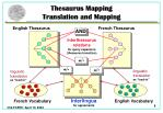 thesaurus mapping translation and mapping