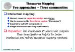 thesaurus mapping two approaches three communities1