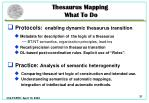 thesaurus mapping what t o d o1