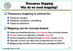 thesaurus mapping why do we need mapping