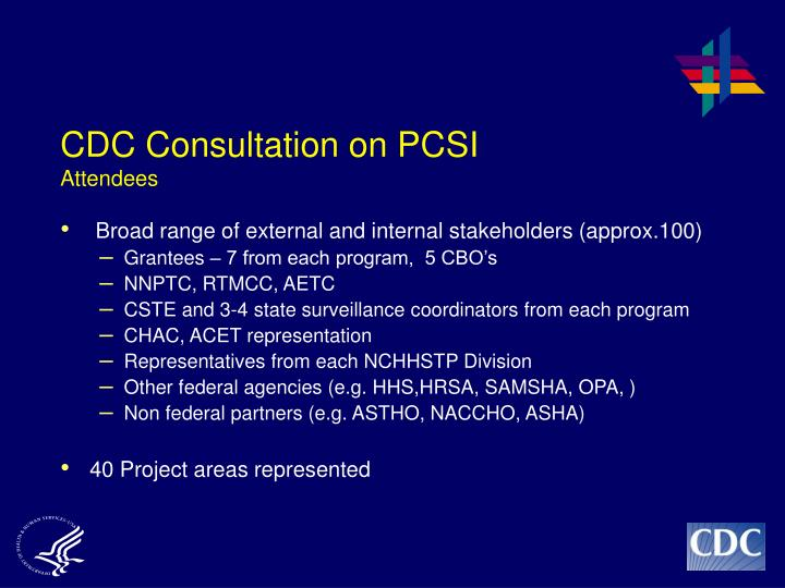 cdc consultation on pcsi attendees n.