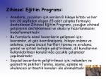 zihinsel e itim program