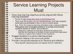 service learning projects must