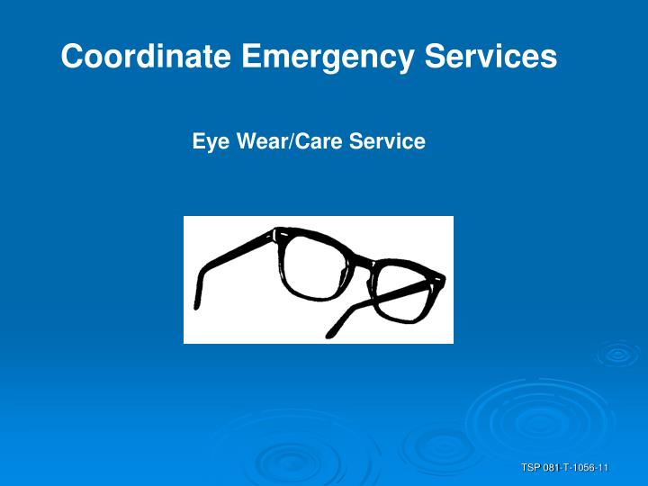 Coordinate Emergency Services