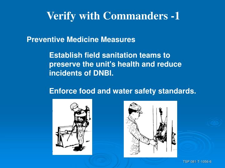 Verify with Commanders -1