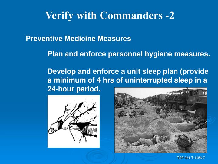 Verify with Commanders -2