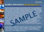 auditor attestation not sec approved
