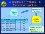 classification process 1 model construction