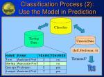 classification process 2 use the model in prediction