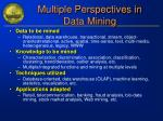 multiple perspectives in data mining