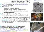 main tracker tpc