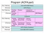 program acfa part