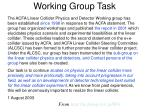 working group task