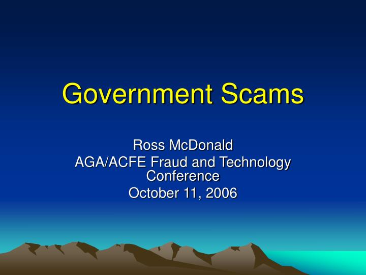 government scams n.