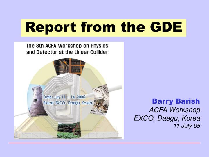 report from the gde n.