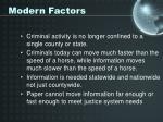 modern factors