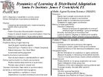 dynamics of learning distributed adaptation