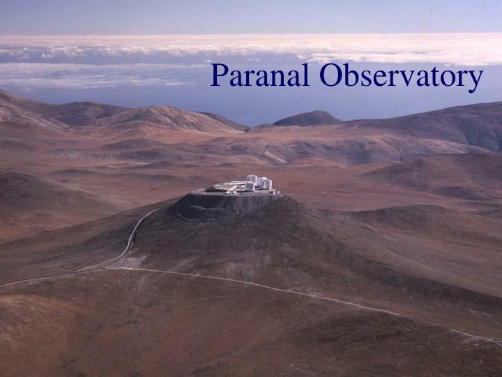 paranal observatory n.