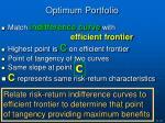 optimum portfolio