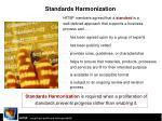 standards harmonization