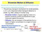 brownian motion diffusion