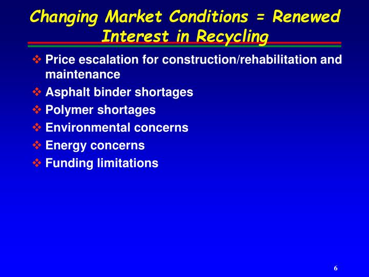 Changing Market Conditions = Renewed Interest in Recycling