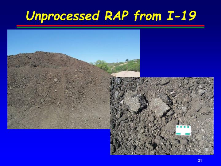 Unprocessed RAP from I-19