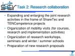 task 2 research collaboration