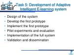 task 5 development of adaptive intelligent e learning system